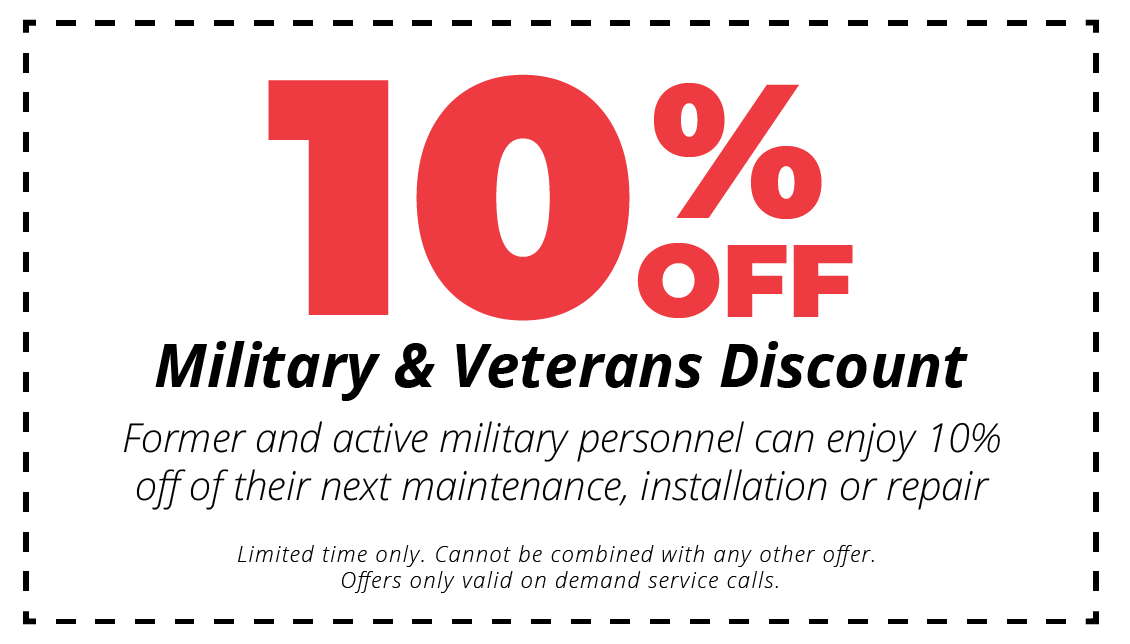 10$ off military and veterans discount hvac coupon