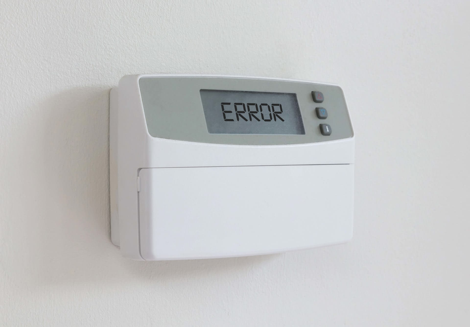 Broken Thermostat with an error message