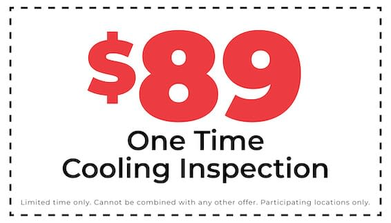$89 one time cooling inspection coupon