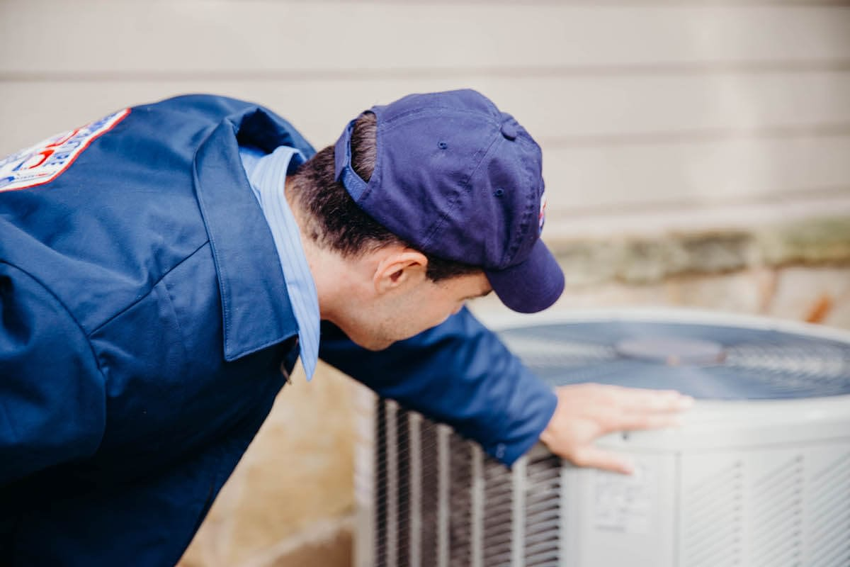 Inspecting an outdoor ac unit